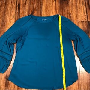 LOFT Tops - LOFT Teal blouse with fun sleeves small